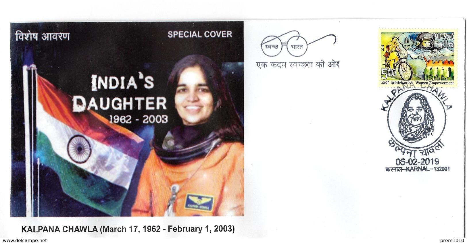 INDIA- 2019- NASA ASTRAONAUT- Late KALPANA CHAWLA- Special Cover - Asien
