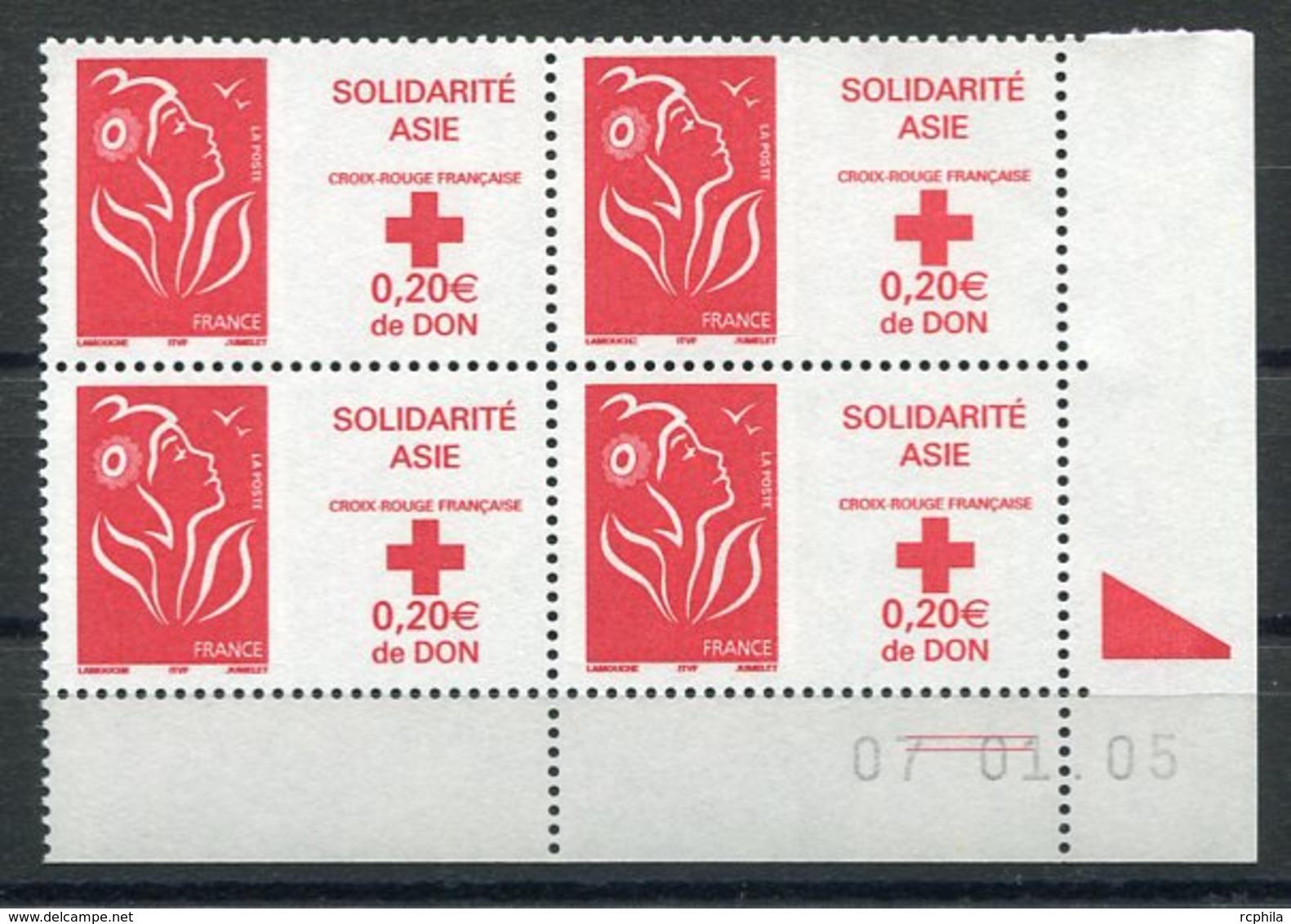RC 12549 FRANCE MARIANNE DE LAMOUCHE COIN DATÉ NEUF ** TB - Frankrijk