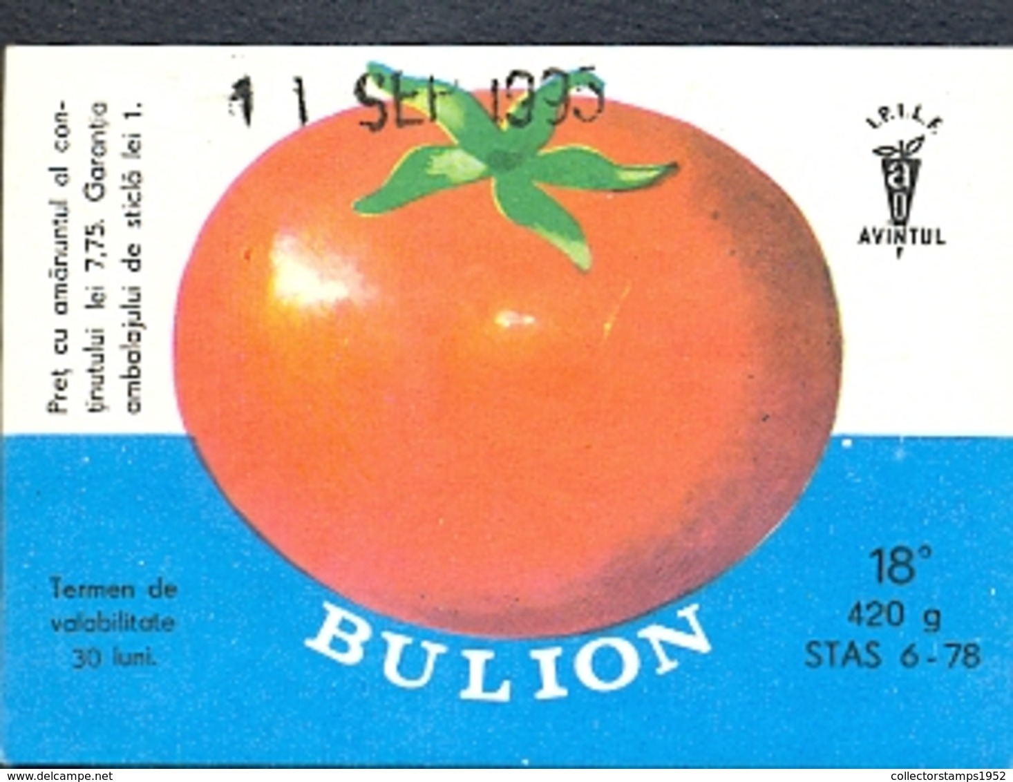 78495- TOMATO SAUCE, LABELS, 1995, ROMANIA - Frutas Y Legumbres