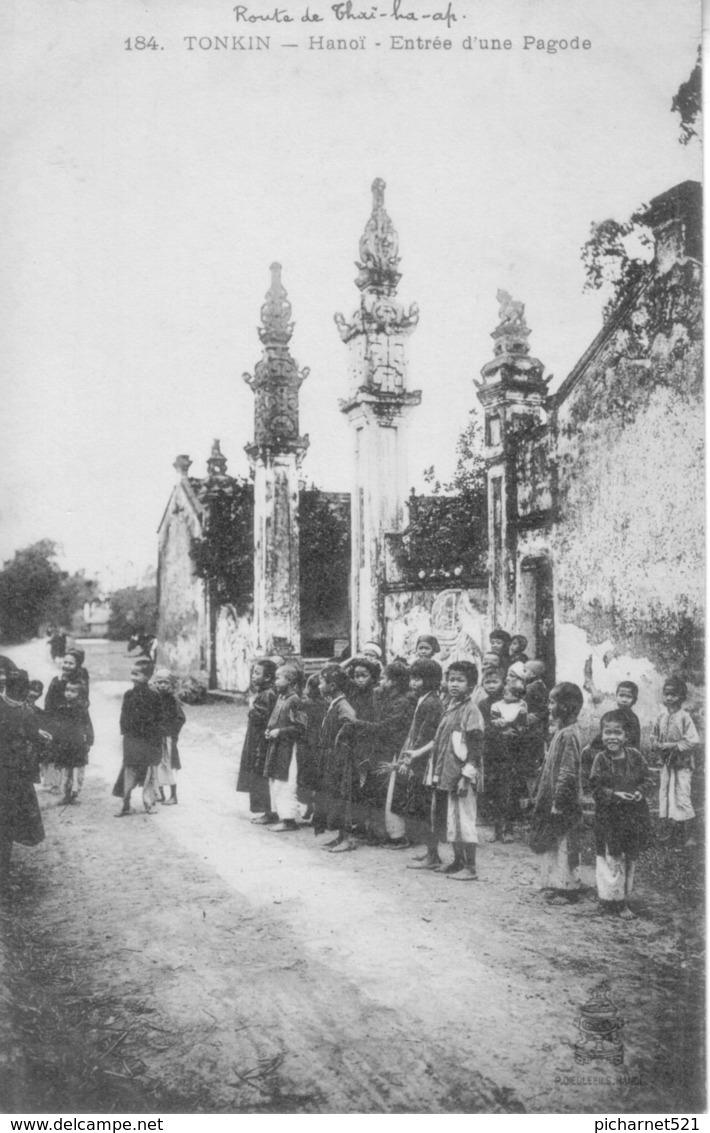 CPA Du Tonkin - Hanoï. Entrée D'une Pagode. Edition Dieulefils, N° 184. Non Circulée T Bon état. - Vietnam
