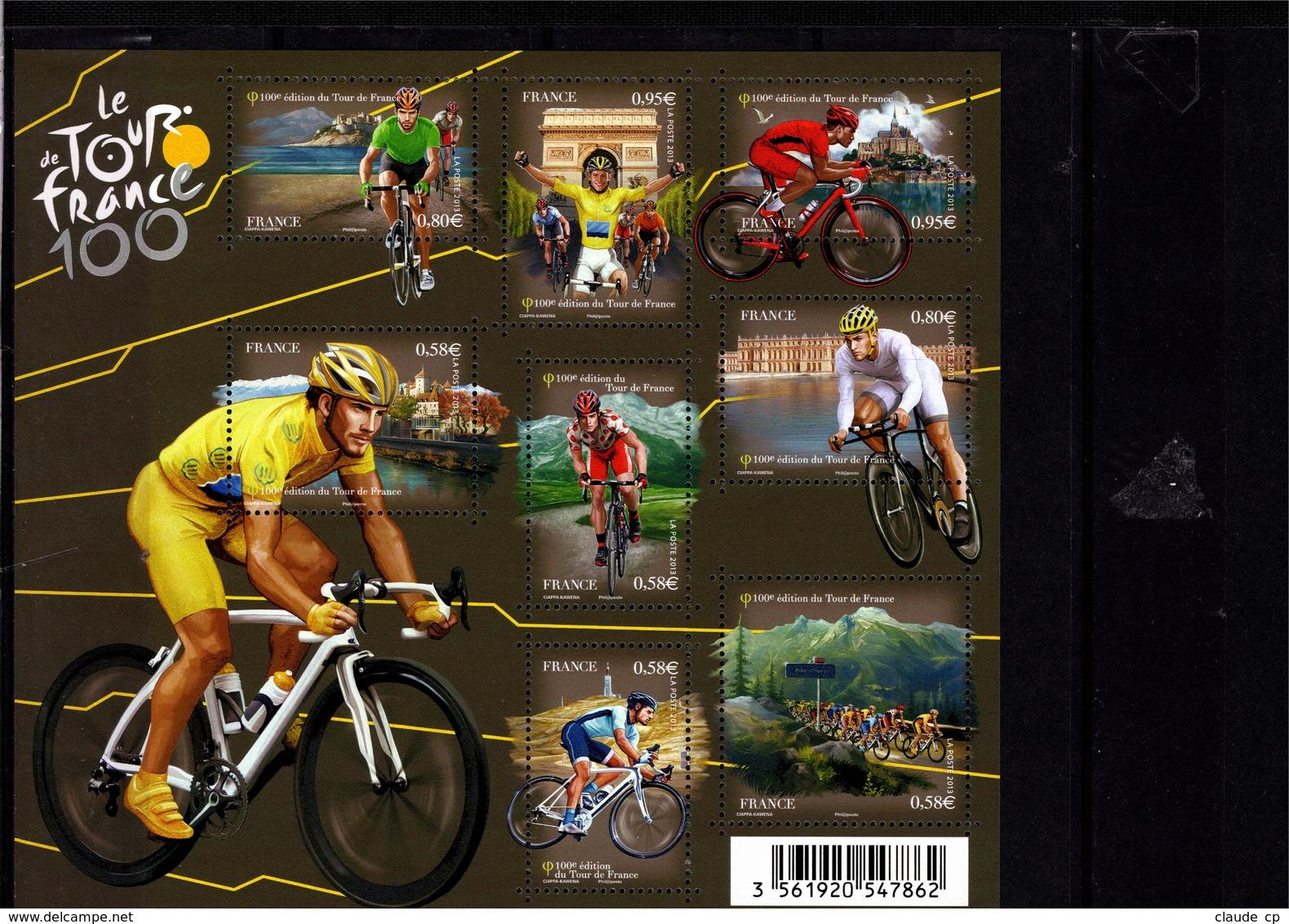 Blocs & Feuillets N° F4755 **--100 Ans Du Tour De France--2013-- Timbres N° 4755 à 4762 - Blocs & Feuillets