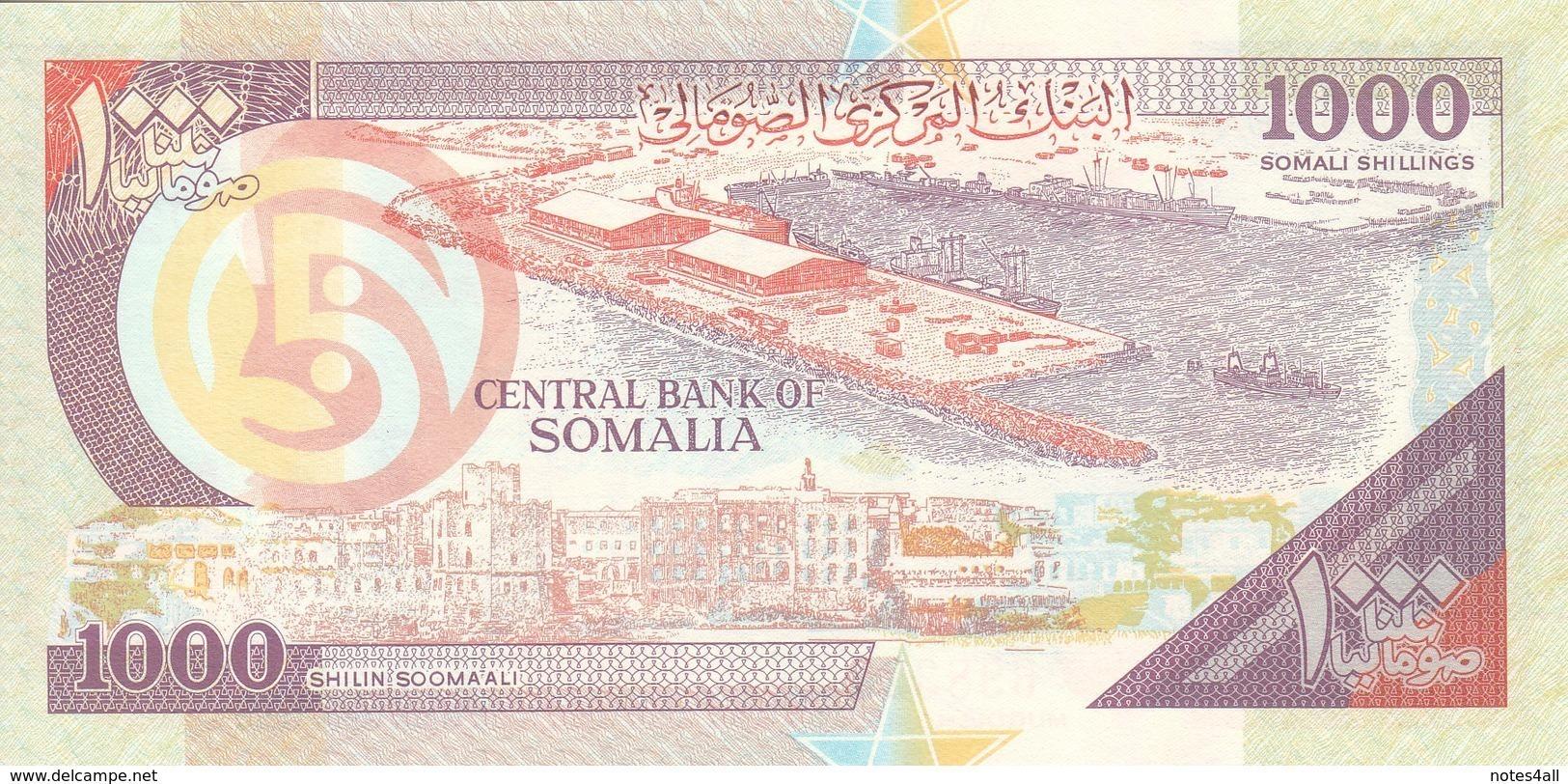 SOMALIA 1000 SHILLINGS 1990 (2000)  P-R10 Serie 460 PUNTLAND REGION LITHOGRAPHED - Somalia