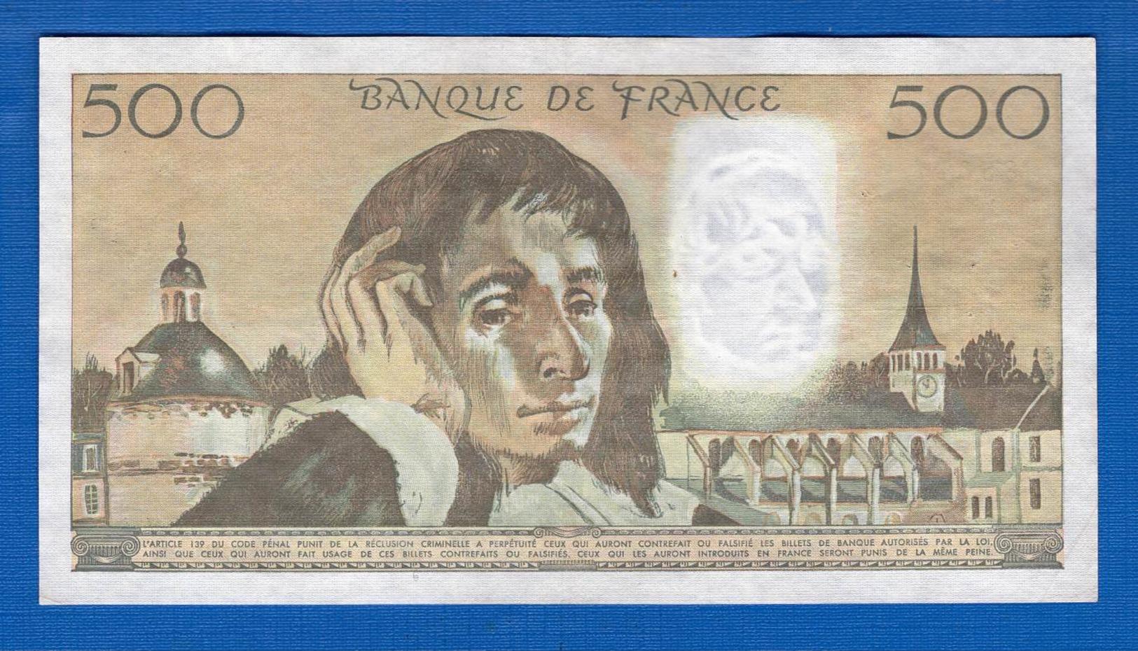 500 Fr  Du5/8/1982 - 1962-1997 ''Francs''