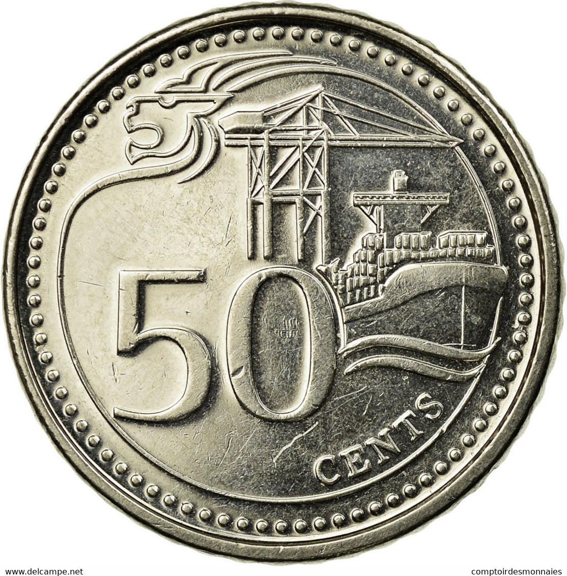Monnaie, Singapour, 50 Cents, 2013, Singapore Mint, TTB, Copper-nickel - Singapour