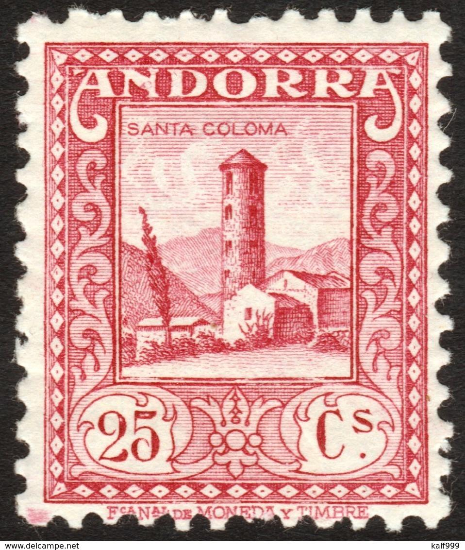 ~~~ Spanish Andorra Andorre 1935 - Santa Coloma - Perf 11½  - Mi. 35 A ** MNH  ~~~ - Andorra Española