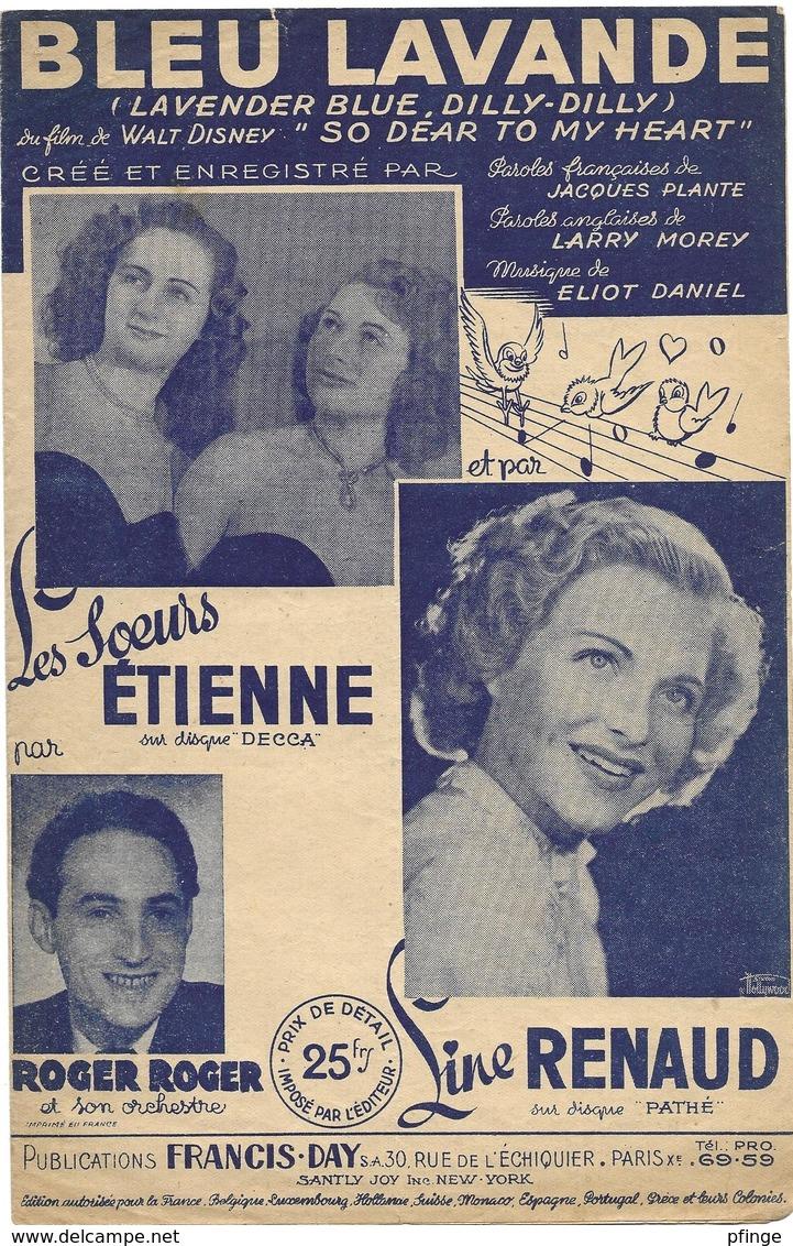 Bleu Lavande - Line Renaud (p;Jacques Plante ; M: Eliot Daniel), 1949 - Musique & Instruments