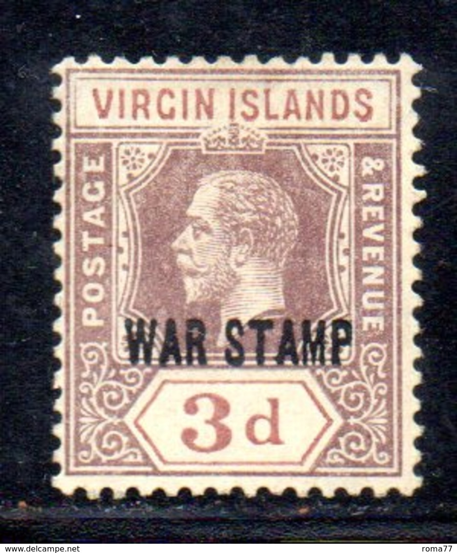 APR695 - BRITISH VIRGIN ISLANDS  1916 , Yvert N. 47 * Linguella  (2380A) .  War - British Virgin Islands