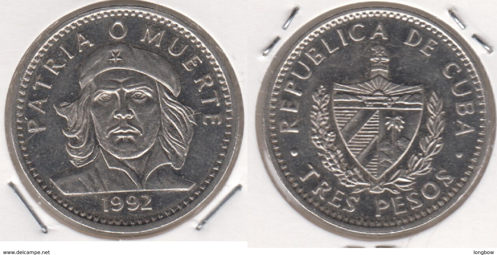 Cuba 3 Pesos 1992 Ernesto Che Guevara KM#346a - Cuba