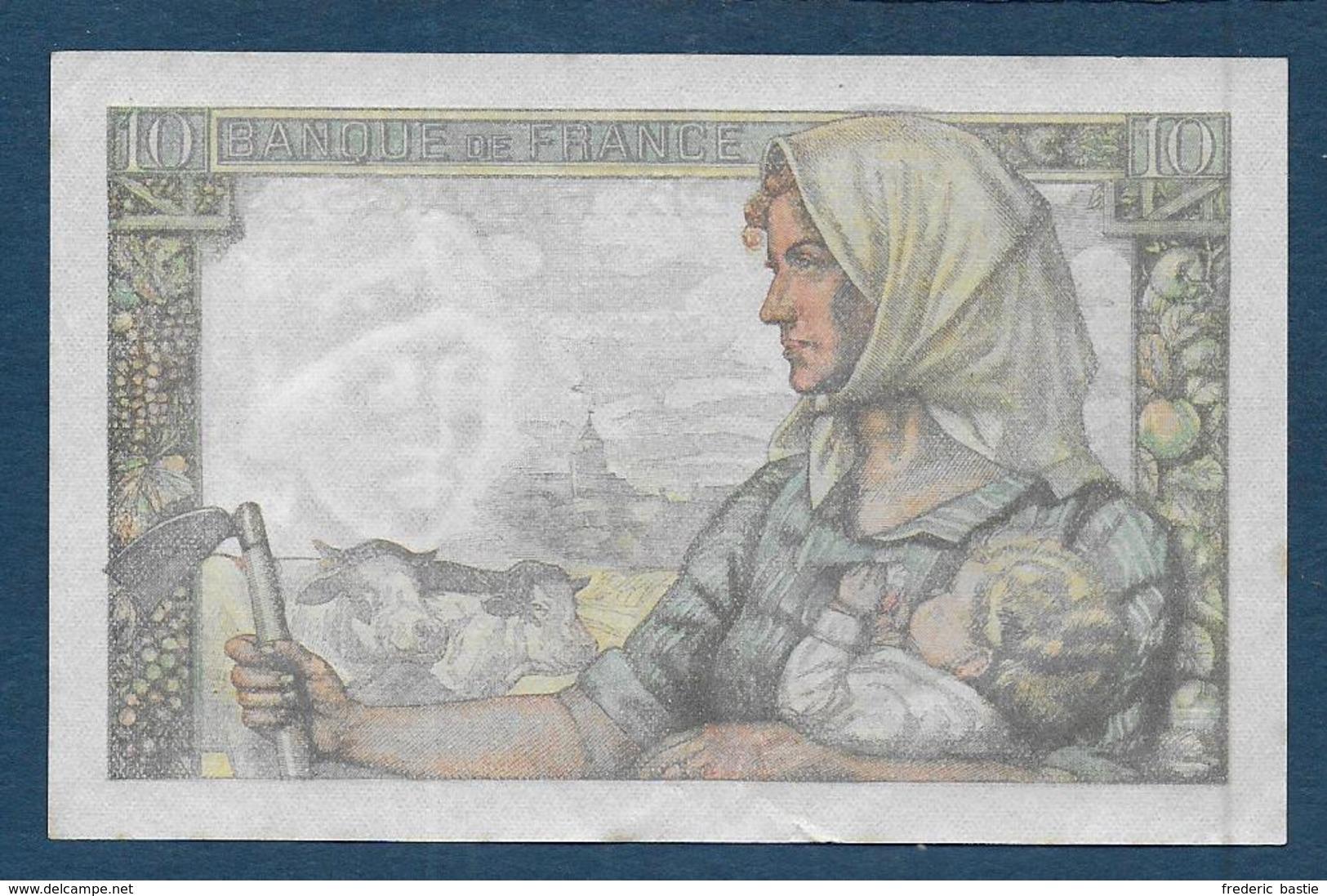 Billet 10 F  Mineur Du 30 - 10 - 1947 - 10 F 1941-1949 ''Mineur''