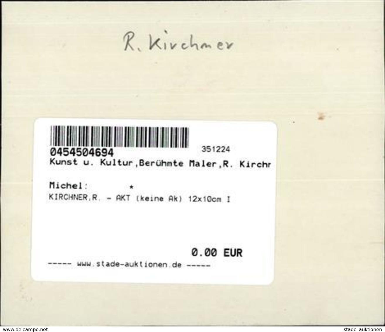 KIRCHNER,R. - AKT (keine Ak) 12x10cm I - Kirchner, Raphael