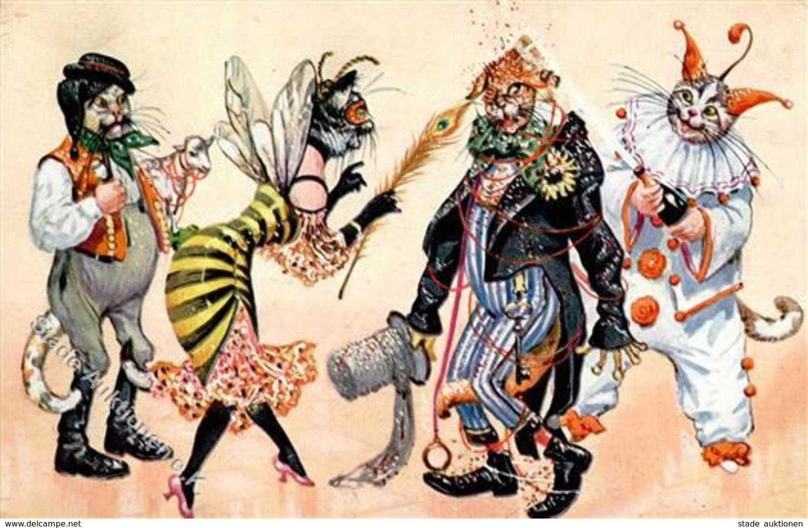 Thiele, Arthur Katzen Personifiziert Karneval I-II Chat - Thiele, Arthur