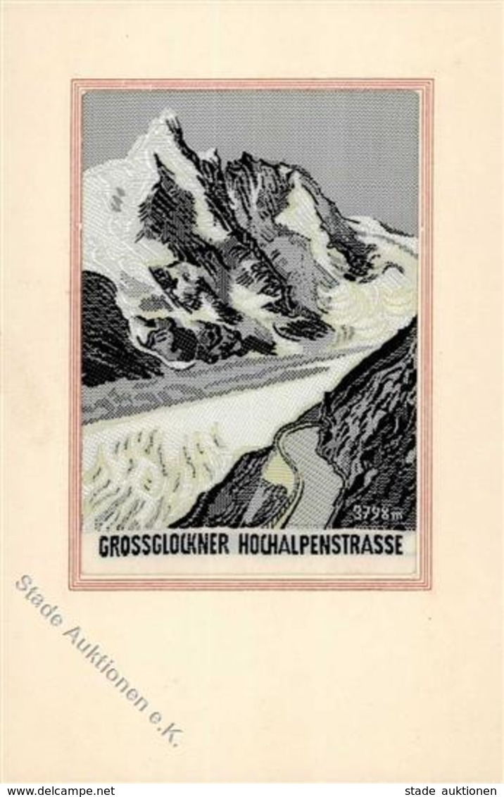 Seide (gewebt) Grossglockner I-II Soie - Ansichtskarten