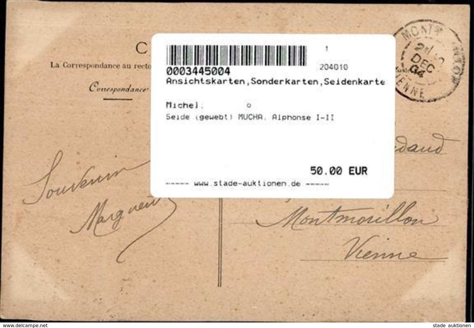 Seide (gewebt) MUCHA, Alphonse I-II Soie - Sonstige