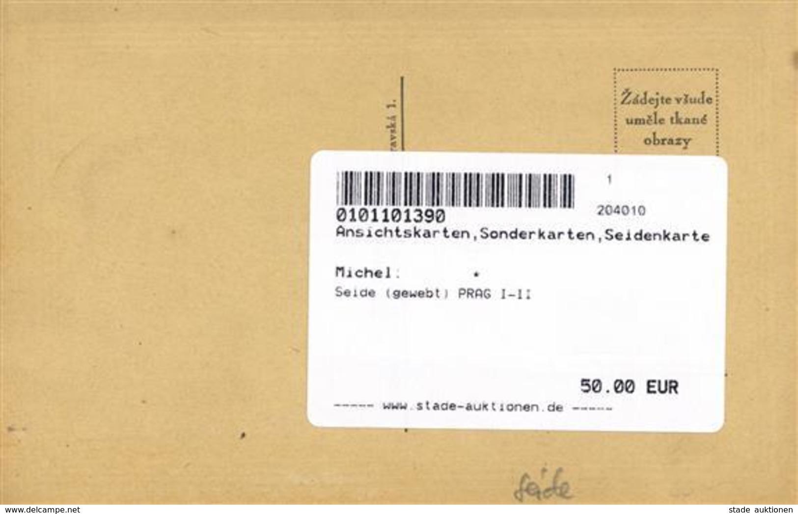 Seide (gewebt) PRAG I-II Soie - Ansichtskarten