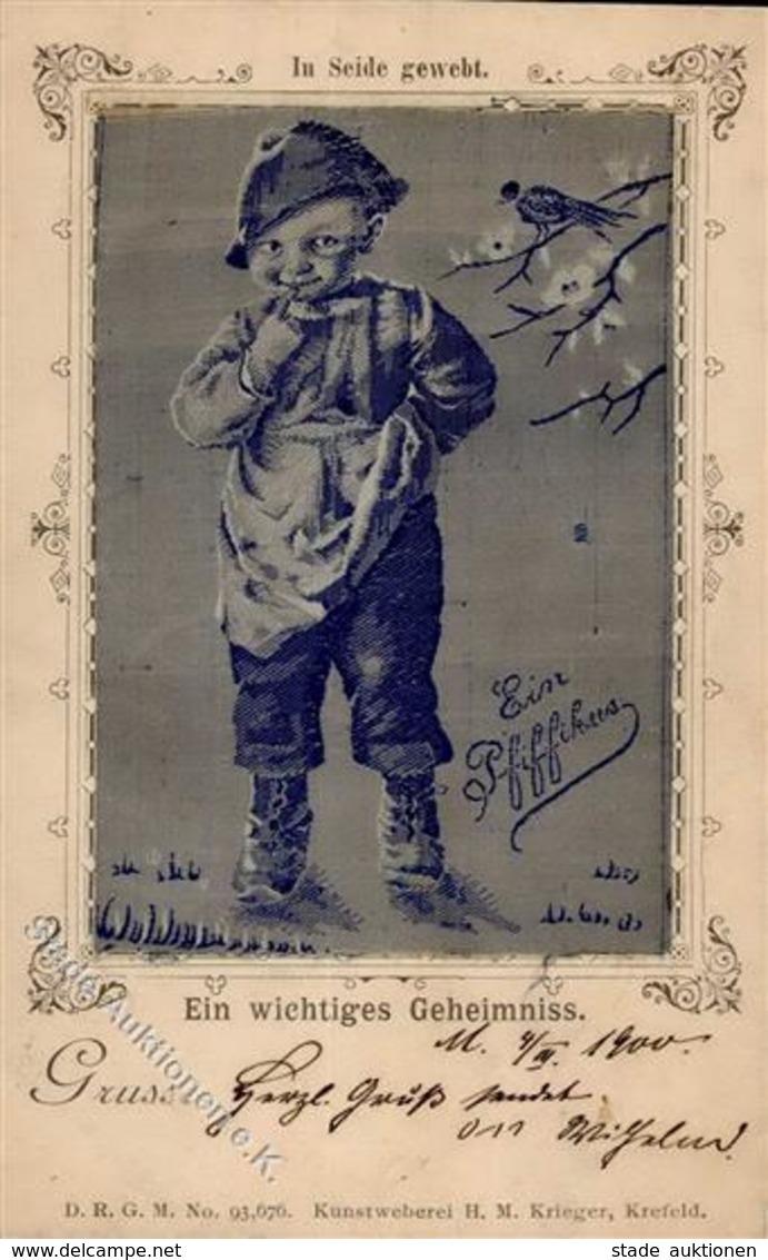 Seide Gewebt Ein Pfiffikus 1900 I-II (Marke Entfernt) Soie - Sonstige