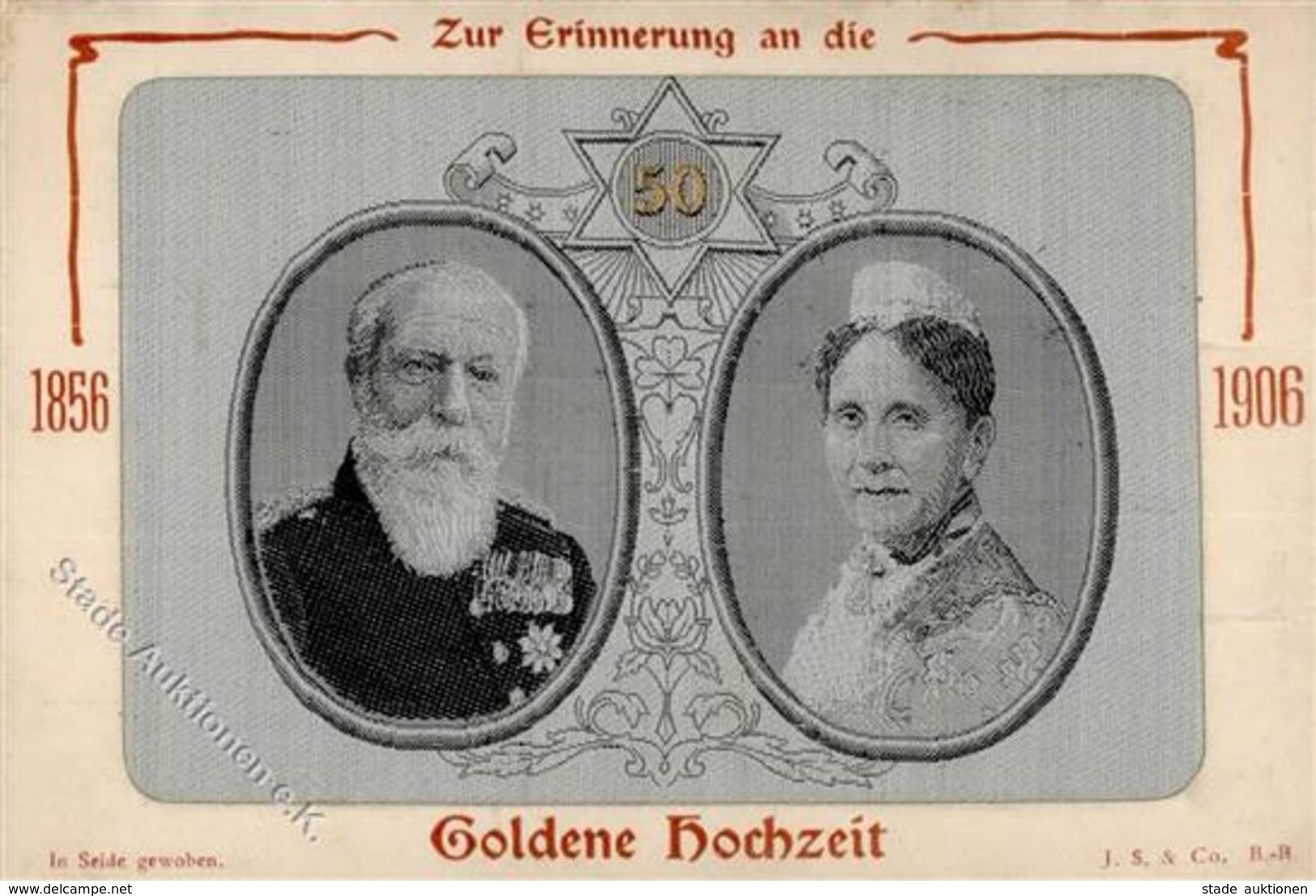 Seide Gewebt Großherzog Friedrich U. Großherzogin Luise Von Baden I-II Soie - Ansichtskarten