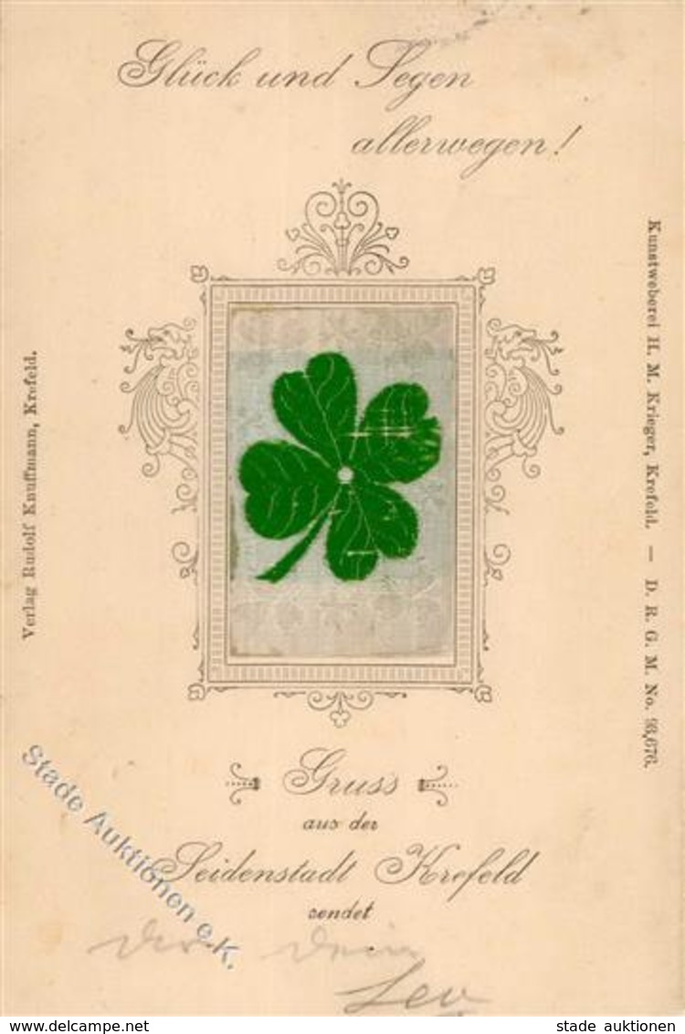 Seide Gewebt Kleeblatt 1898 I-II Soie - Ansichtskarten