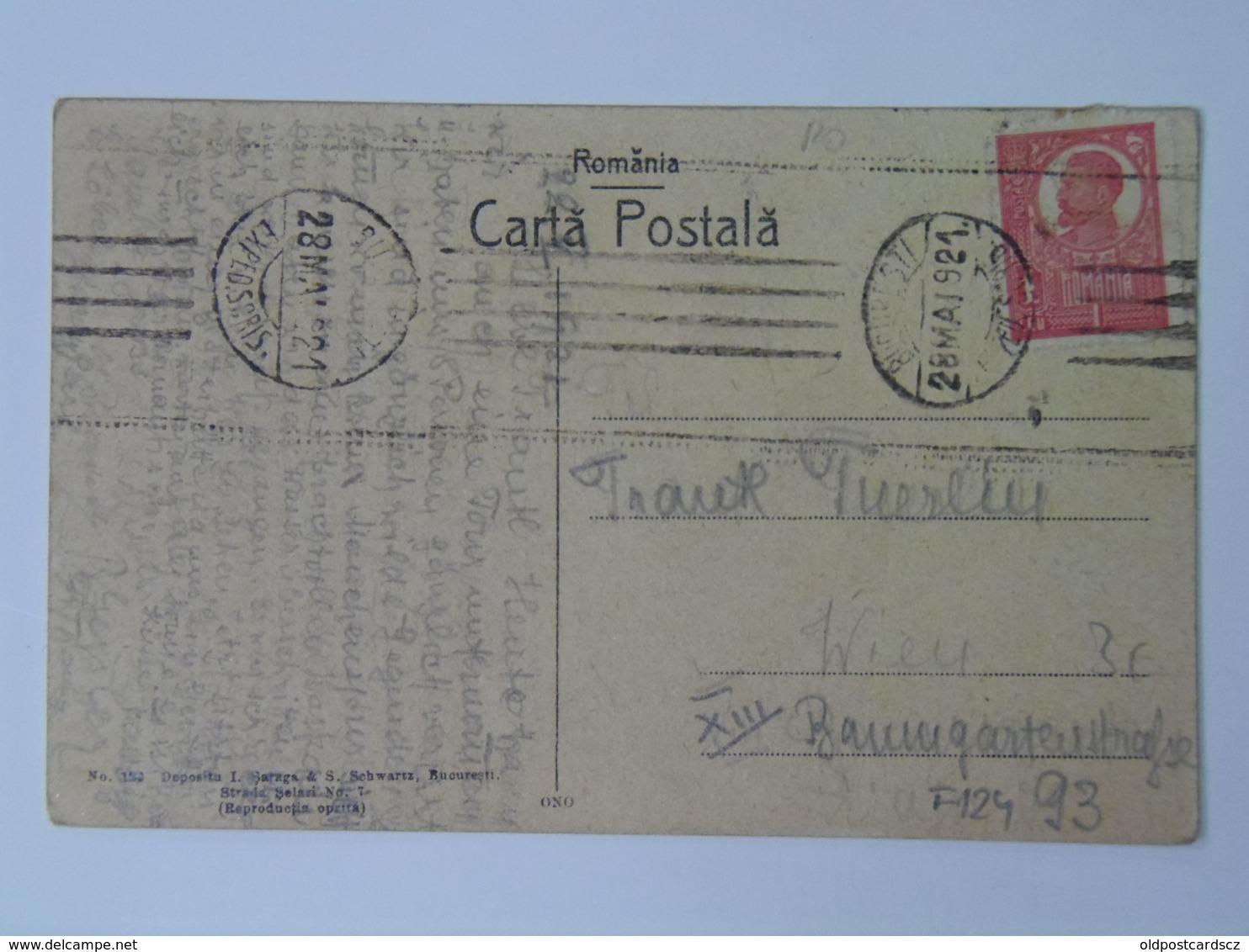 Romania F124 Sinaia Castel Peles 1921 - Romania