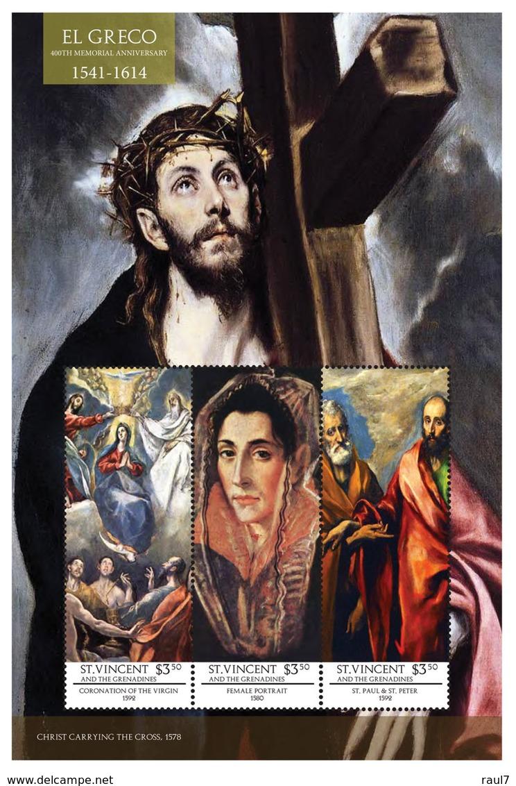 St Vincent 2014 - Art, Peintures De El Greco II - Feuillet Neuf // Mnh - St.Vincent & Grenadines