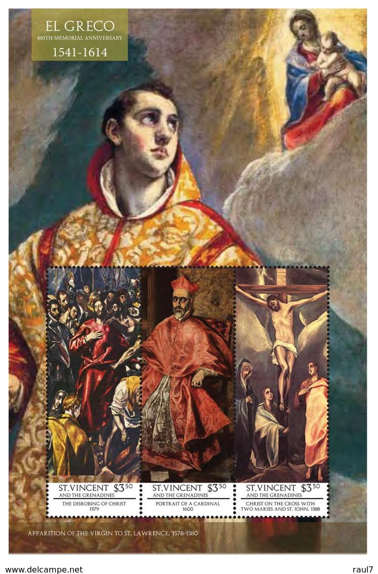 St Vincent 2014 - Art, Peintures De El Greco I - Feuillet Neuf // Mnh - St.Vincent & Grenadines