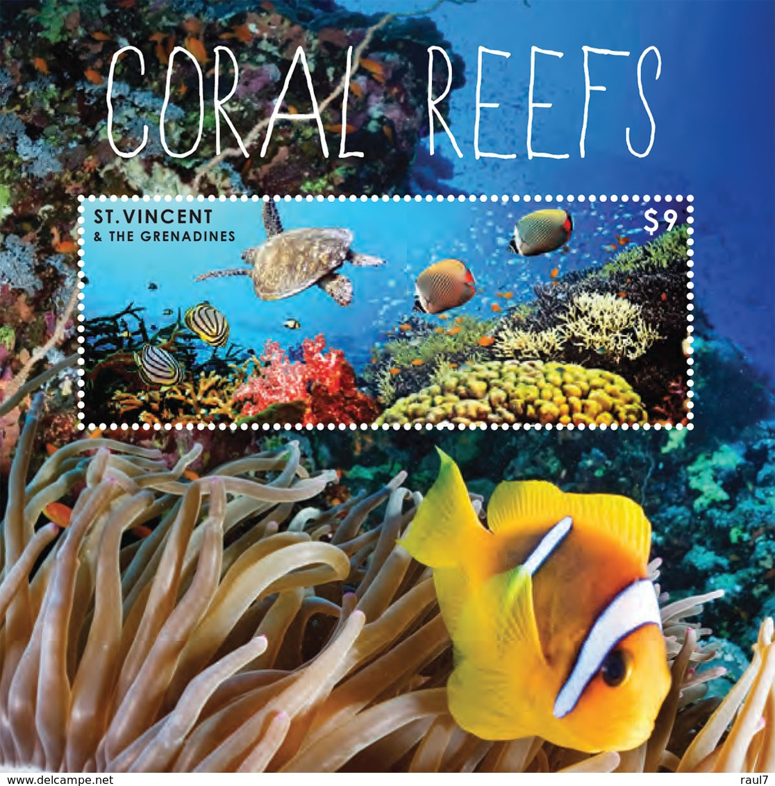 St Vincent 2013 - Faune Marine, Coraux, Tortues, Poissons - BF Neuf // Mnh - St.Vincent & Grenadines