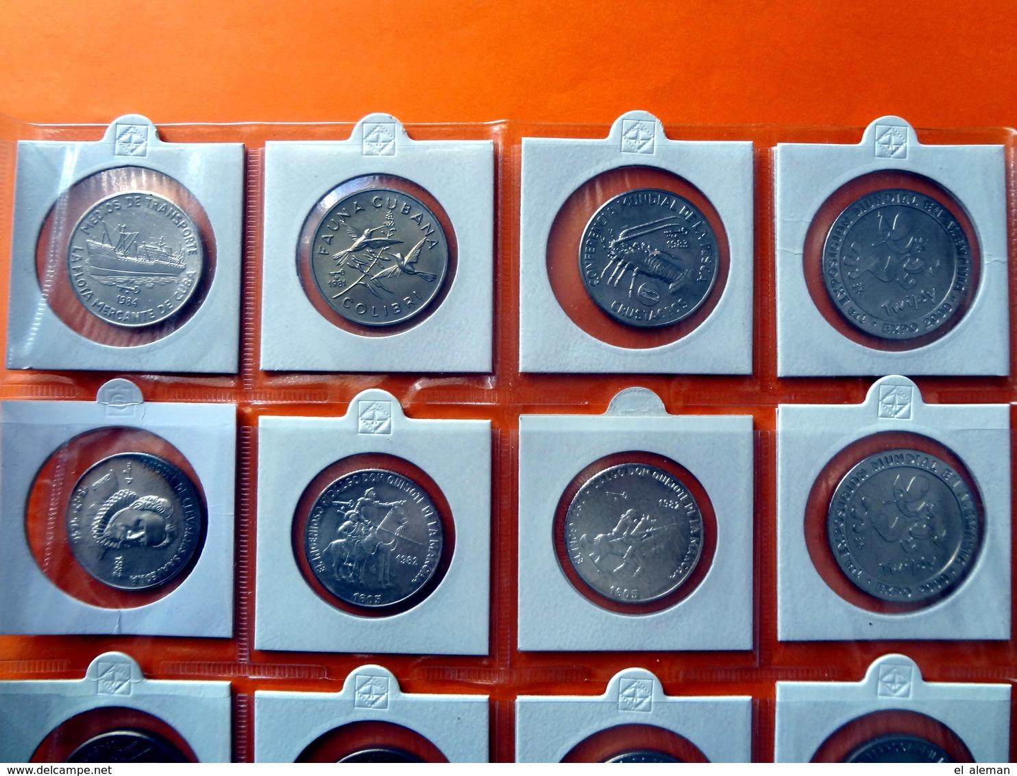 Kuba / Cuba 20 X Münzen Coin Coins Moneda Monedas, Konvolut, Convolute, Retorcer - Cuba