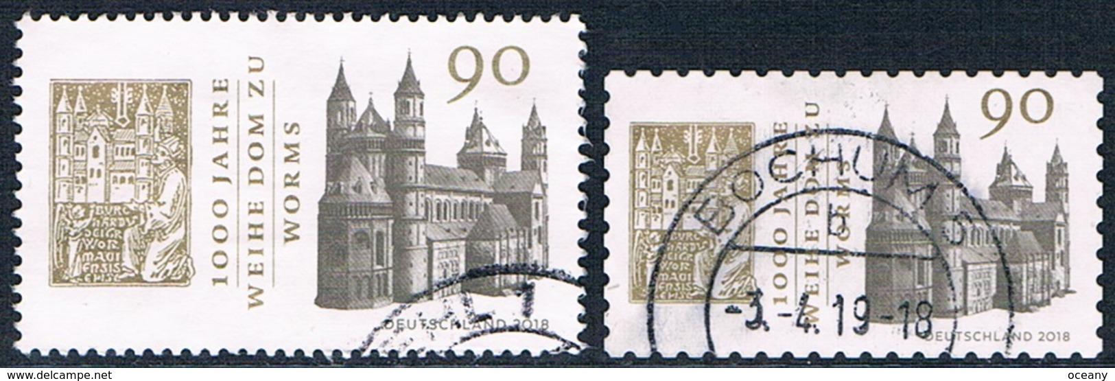 Allemagne Fédérale - Centenaire De La Cathédrale Saint-Pierre De Worms 3174/3175 (année 2018) Oblit. - Oblitérés