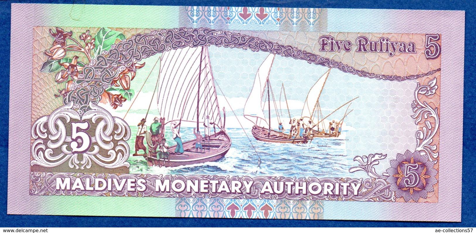 Maldives -  5 Rufiyaa - état  UNC - Maldives