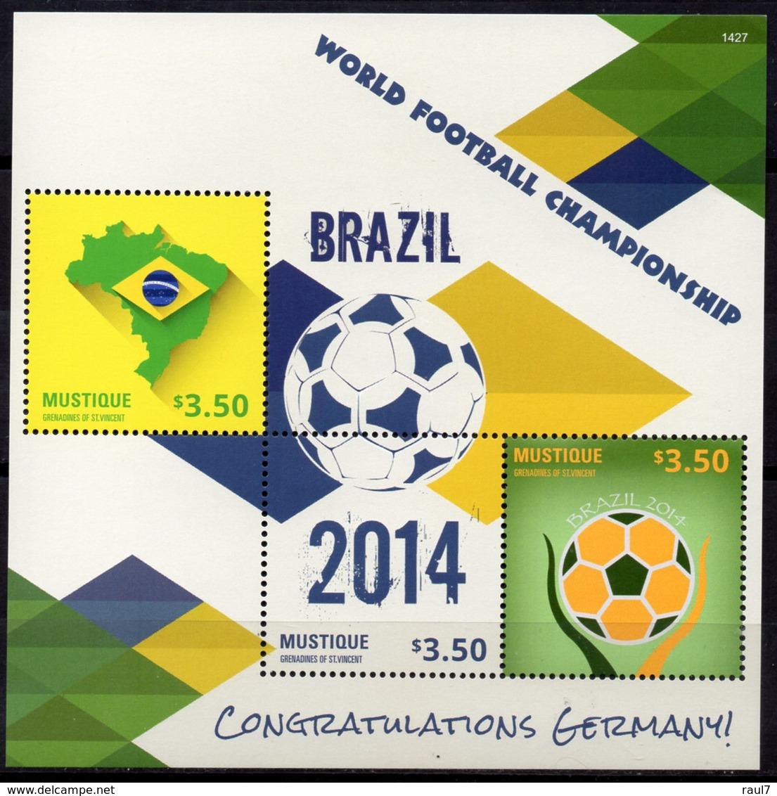 St Vincent (Mustique) - Mondial De Foot, Rio 2014 - BF Neuf // Mnh - St.Vincent & Grenadines
