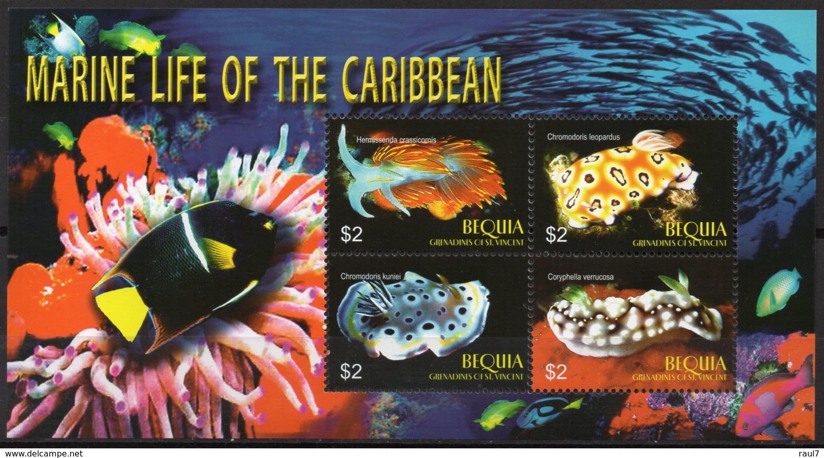 St Vincent (Bequia) - Faune Marine Des Caraïbes - BF Neuf // Mnh - St.Vincent & Grenadines