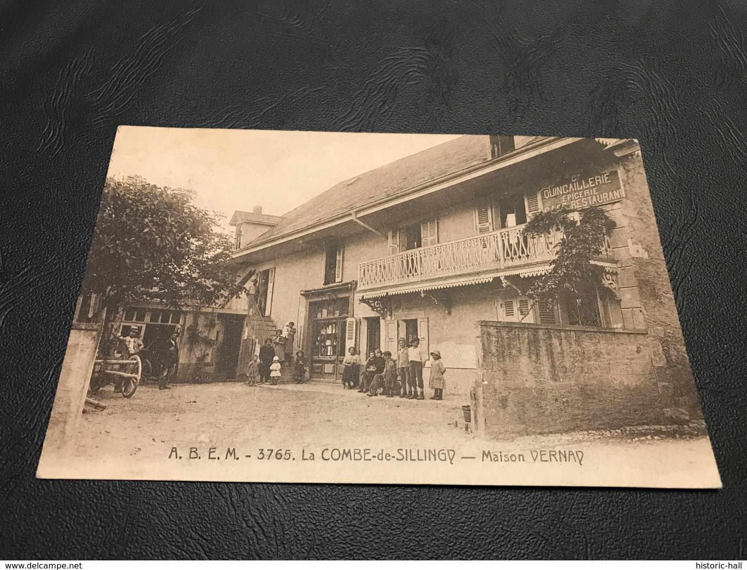 3765 - LA COMBE DE SILLINGY Maison VERNAY (Quincaillerie Epicerie Café Restaurant) - 1929 Timbrée - Autres Communes