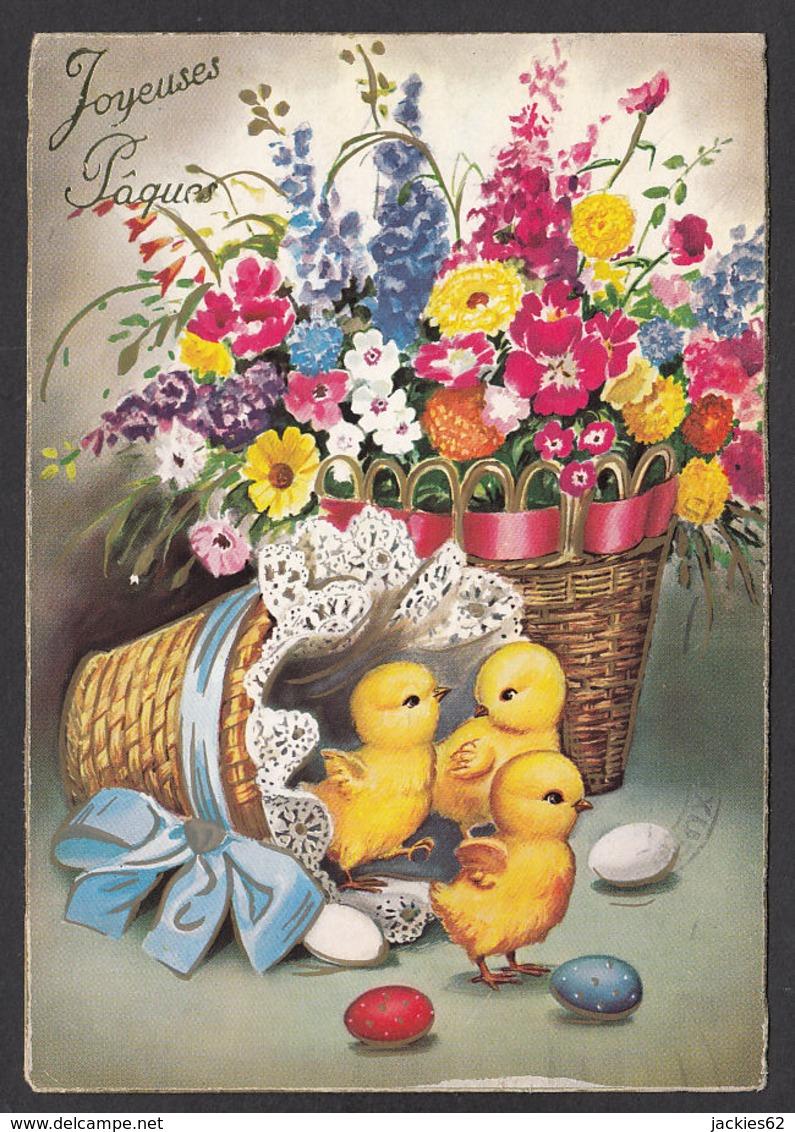 96452/ PAQUES, Poussins, Fleurs Et Oeufs - Pâques
