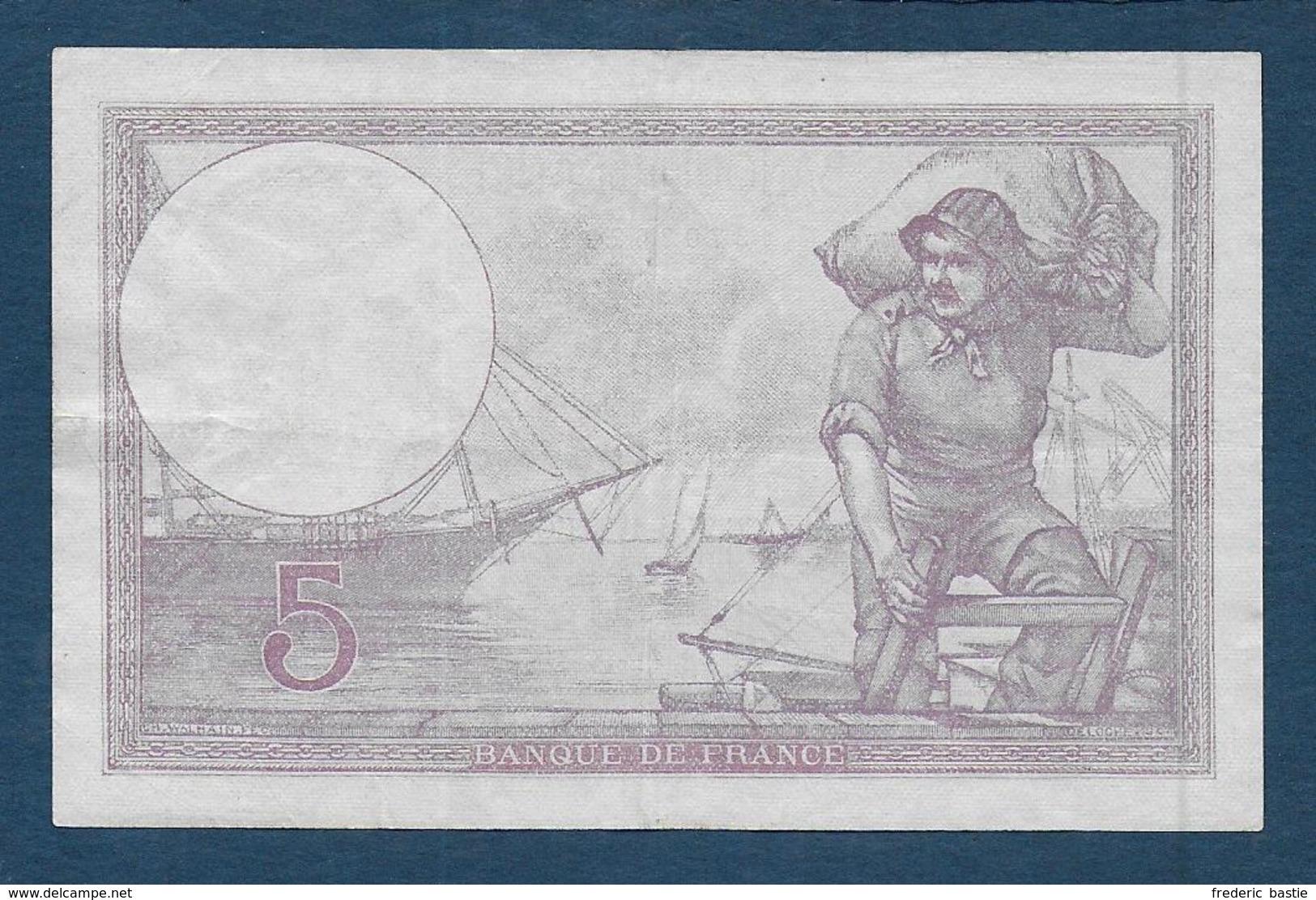 Billet 5 F  Violet  Du 27 - 4 - 1933 - 1871-1952 Antiguos Francos Circulantes En El XX Siglo