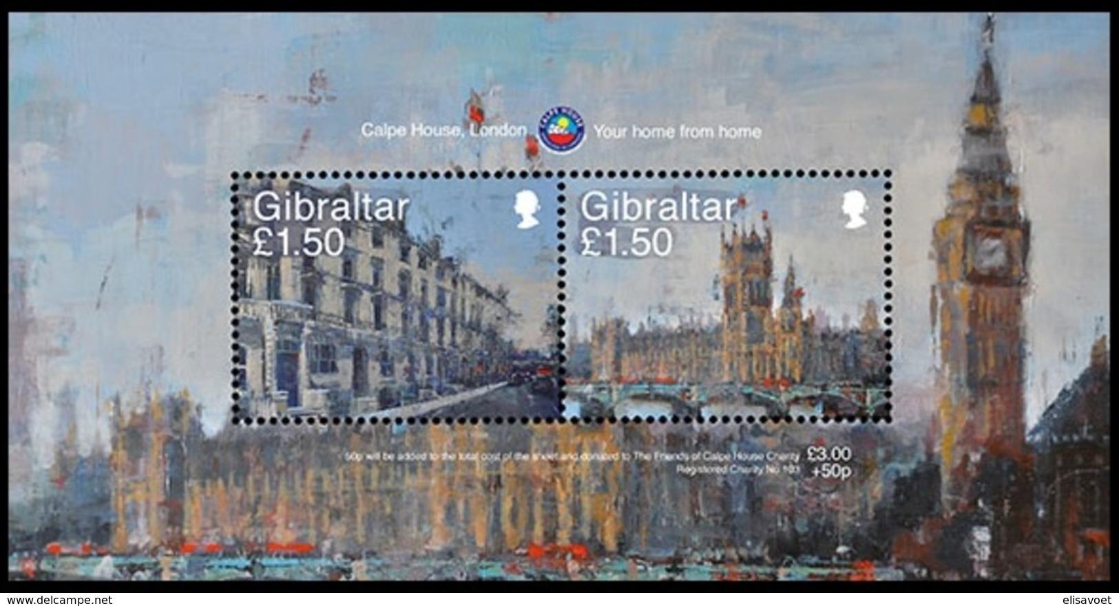 Gibraltar  2018 Micheln° Bloc 136 *** MNH Calpe House, London - Gibraltar