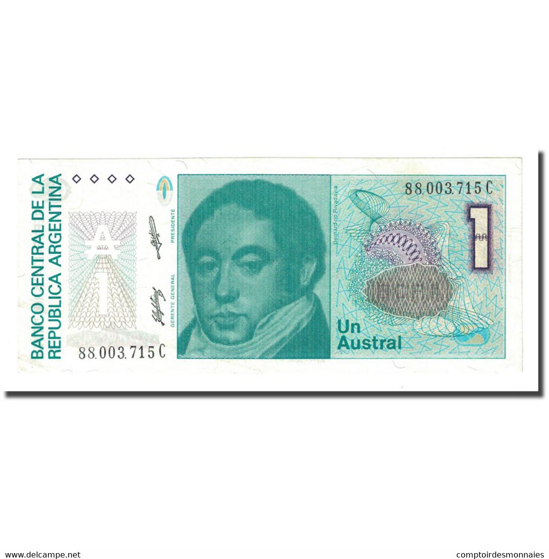 Billet, Argentine, 1 Austral, Undated (1985-89), KM:323b, SPL - Argentine