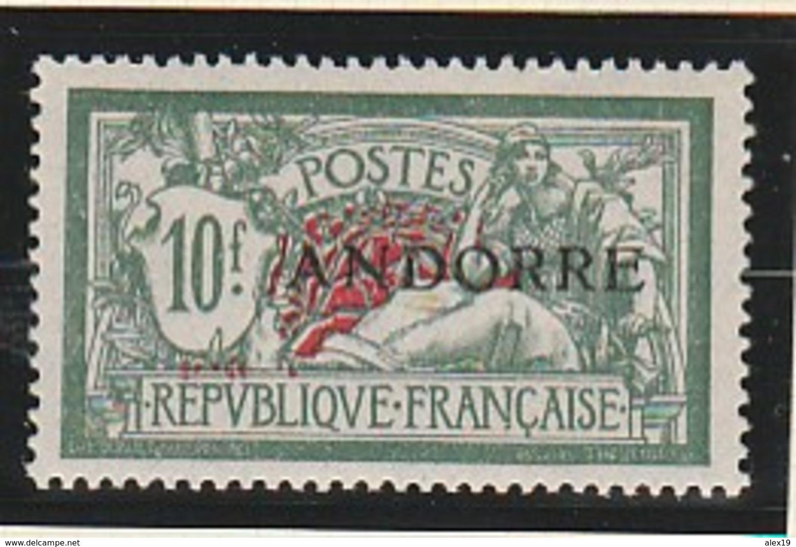 ANDORRE FRANCAIS 22 TRES BIEN CENTRE ET SANS CHARNIERE - Französisch Andorra