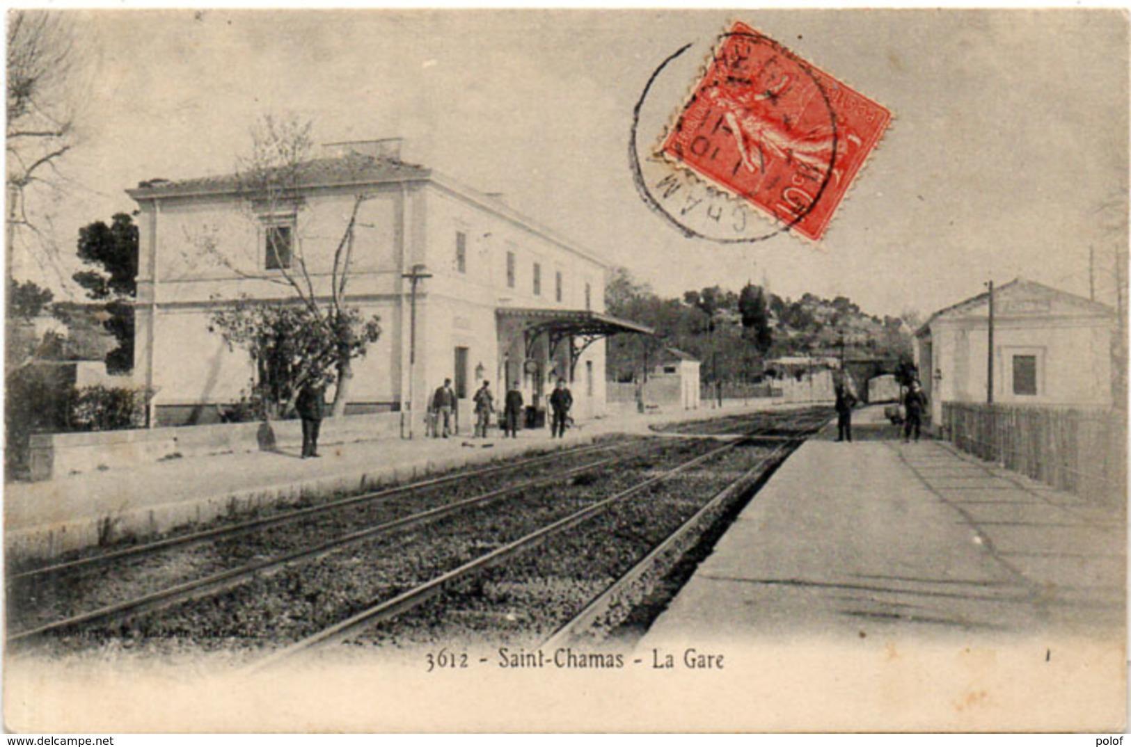 SAINT CHAMAS - La Gare    (226 ASO) - Autres Communes