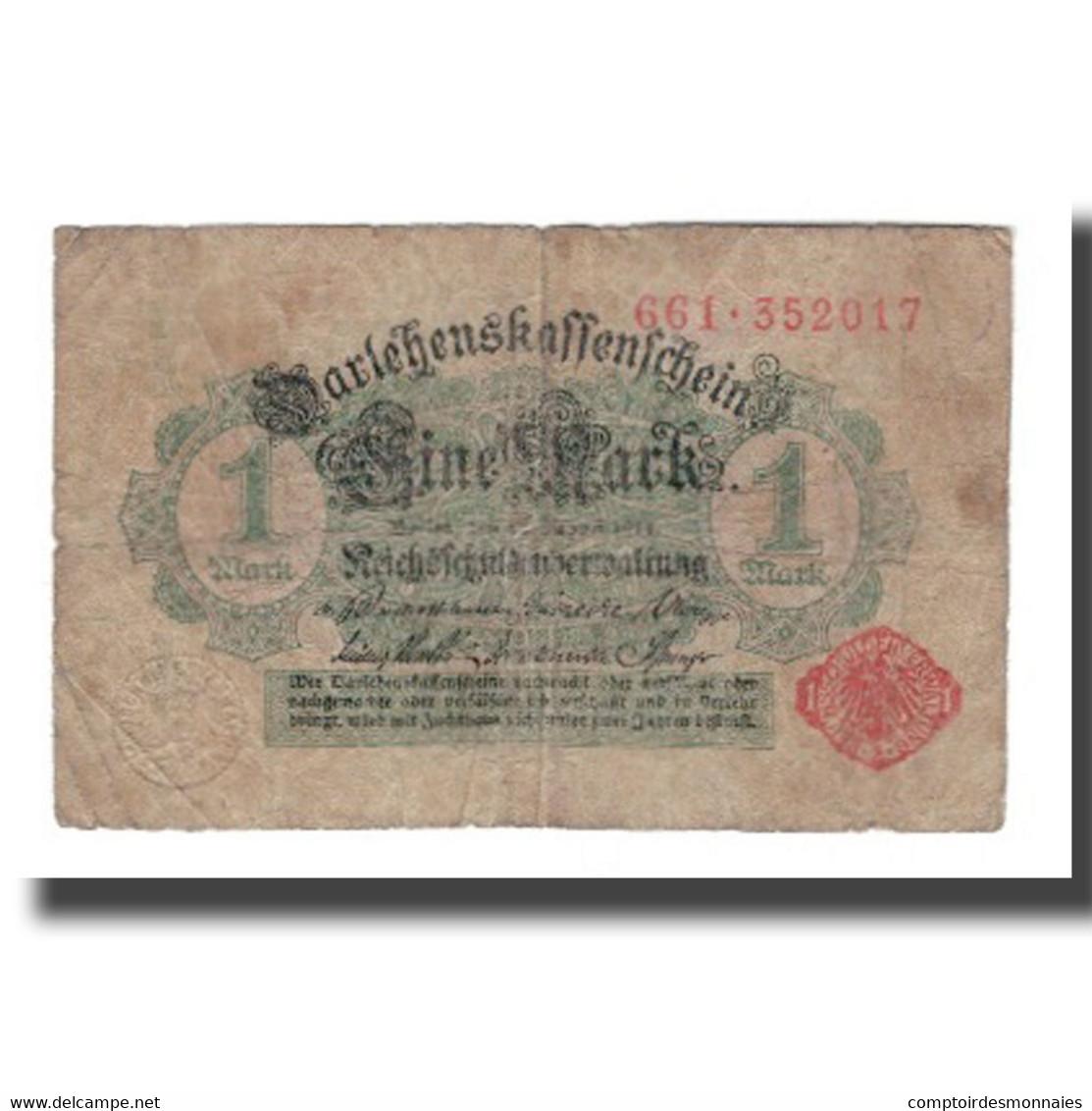 Billet, Allemagne, 1 Mark, 1914, 1914-08-12, KM:51, B - [ 2] 1871-1918 : Duitse Rijk