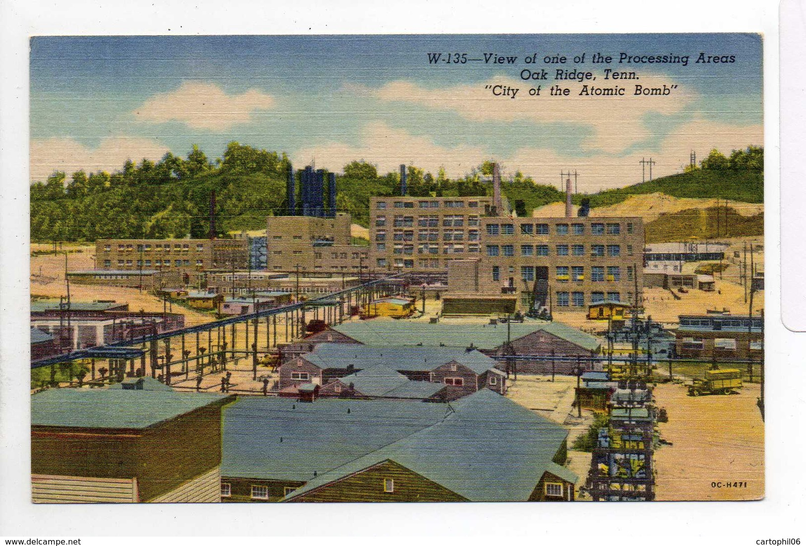 - CPA OAK RIDGE (Tennessee / USA) - View Of One Of The Processing Areas - - Oak Ridge