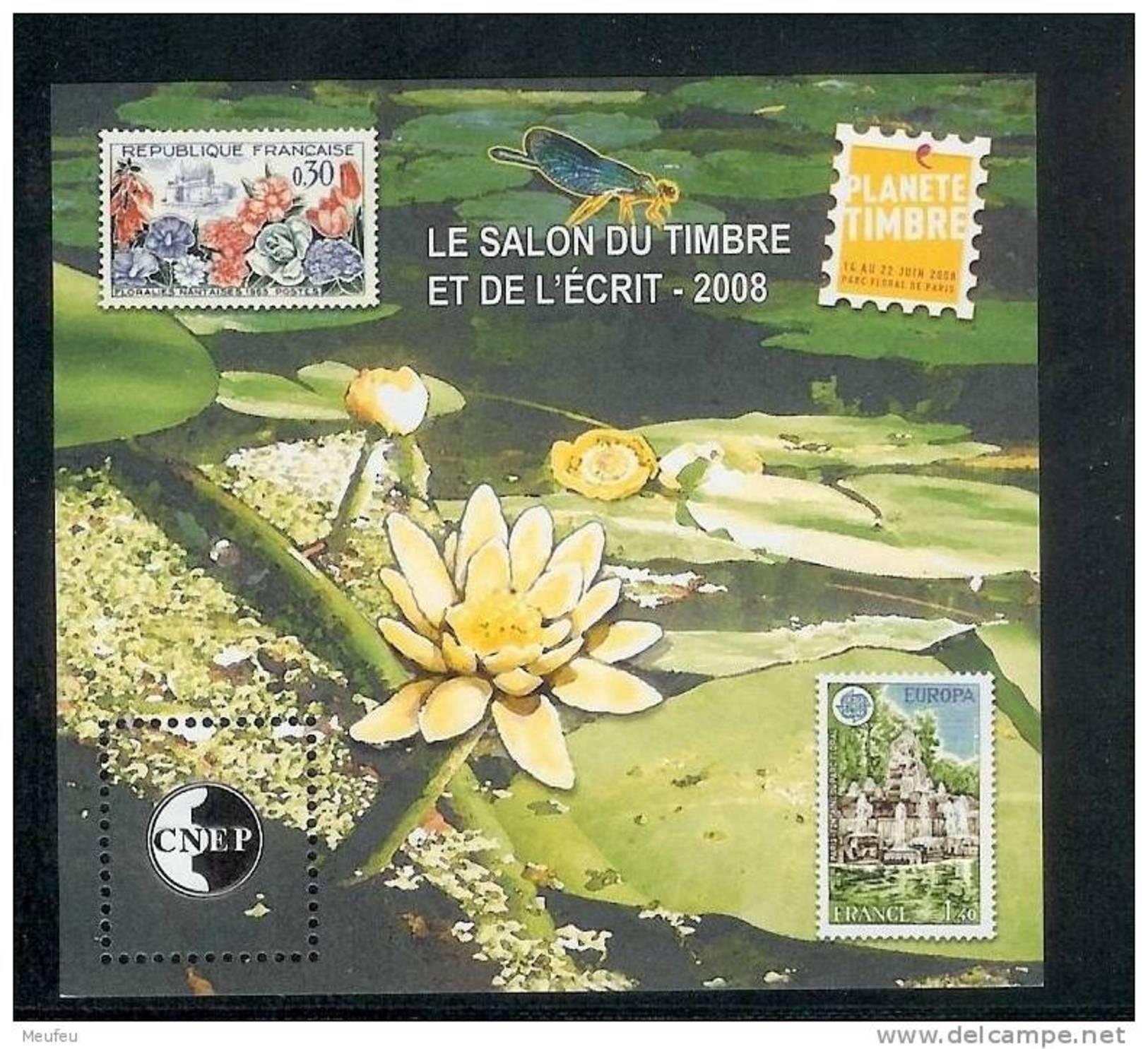 BLOC CNEP 2008 N° 51 - LE SALON DU TIMBRE ET DE L'ECRIT 2008 - CNEP