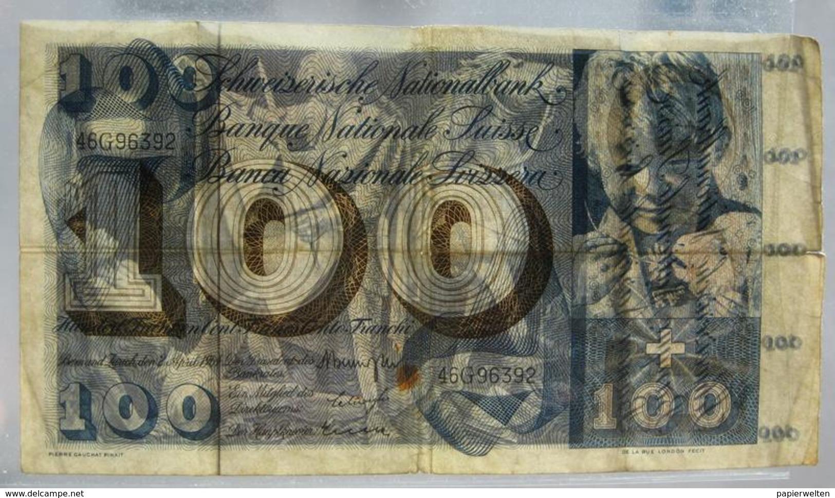 100 Franken 1964 (WPM 49f) - Suiza