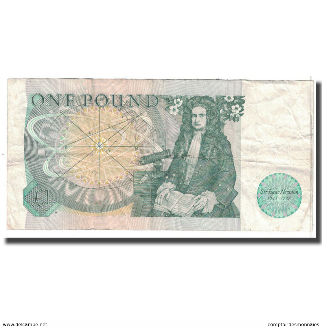 Billet, Grande-Bretagne, 1 Pound, KM:377a, TB - 1952-… : Elizabeth II