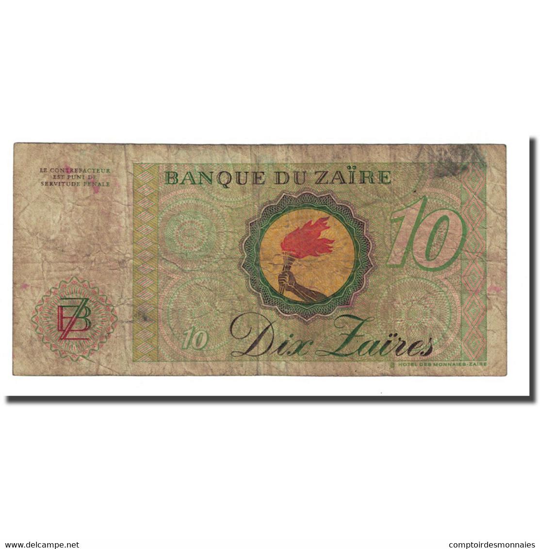 Billet, Zaïre, 10 Zaïres, 1985-10-27, KM:27A, B - Zaïre