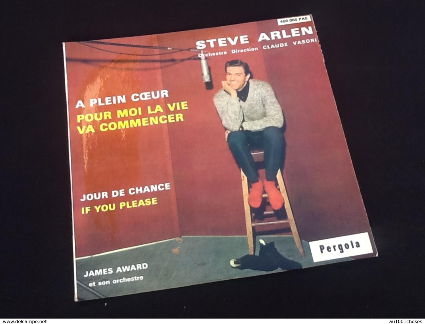 Vinyle 45 Tours  Steve Arlen   A Plein Coeur   (1963) - Andere