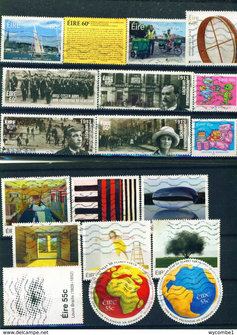 IRELAND - Collection Of 1900 Different Postage Stamps - Collections, Lots & Series