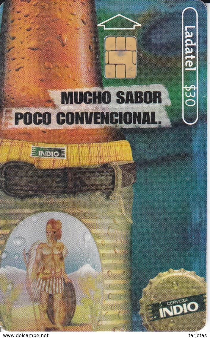 TARJETA DE MEXICO DE CERVEZA INDIO BOTELLA (BEER) - Alimentación