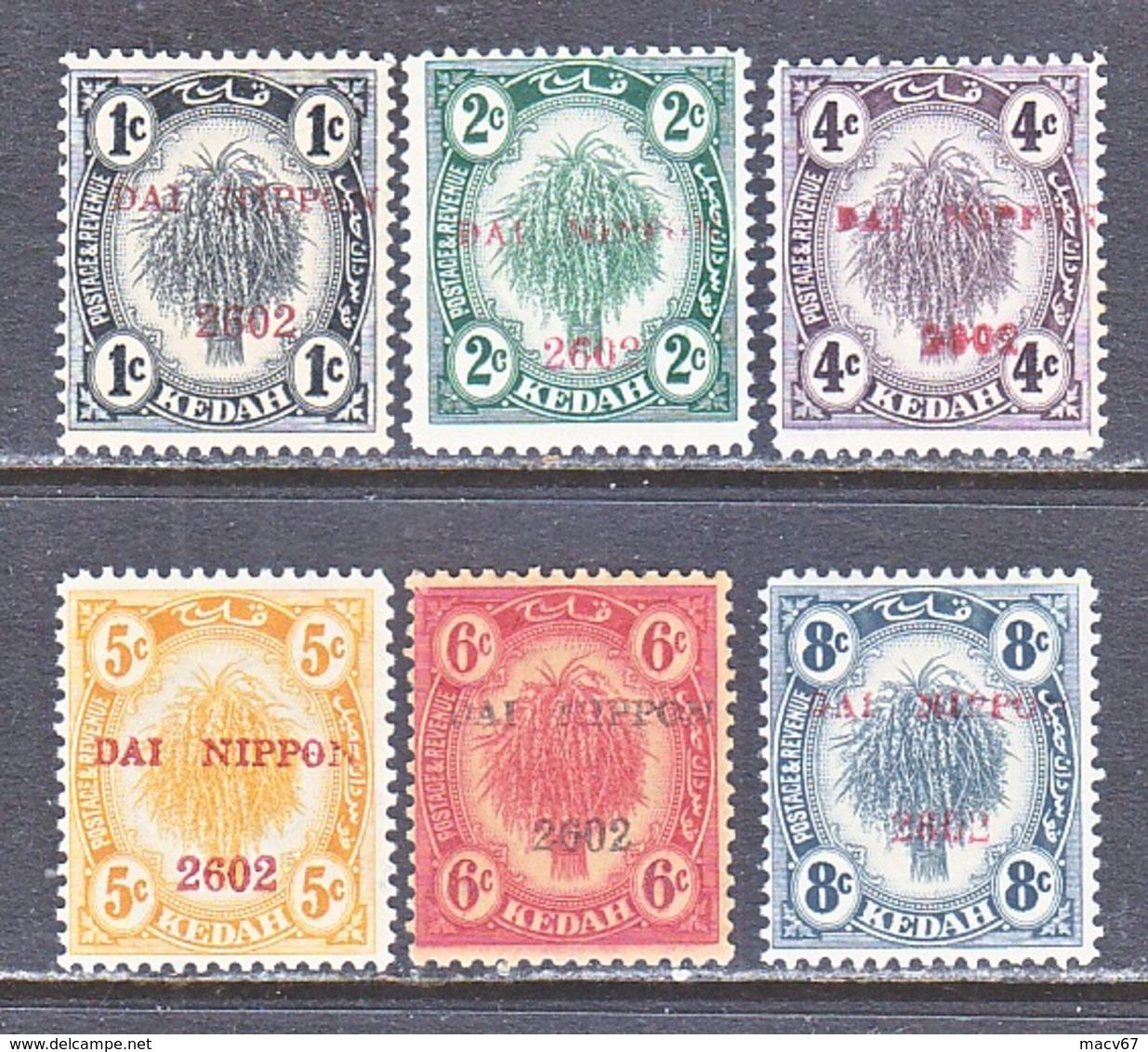 JAPANESE  OCCUP.  KEDAH  N 1-6  **    * - Grande-Bretagne (ex-colonies & Protectorats)