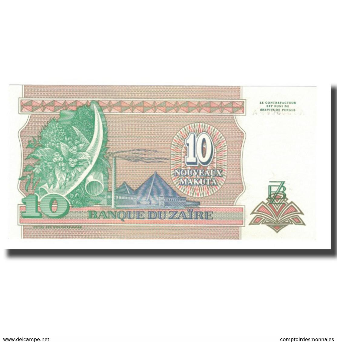 Billet, Zaïre, 10 Nouveaux Makuta, 1993, 1993-06-24, KM:49, SPL+ - Zaïre