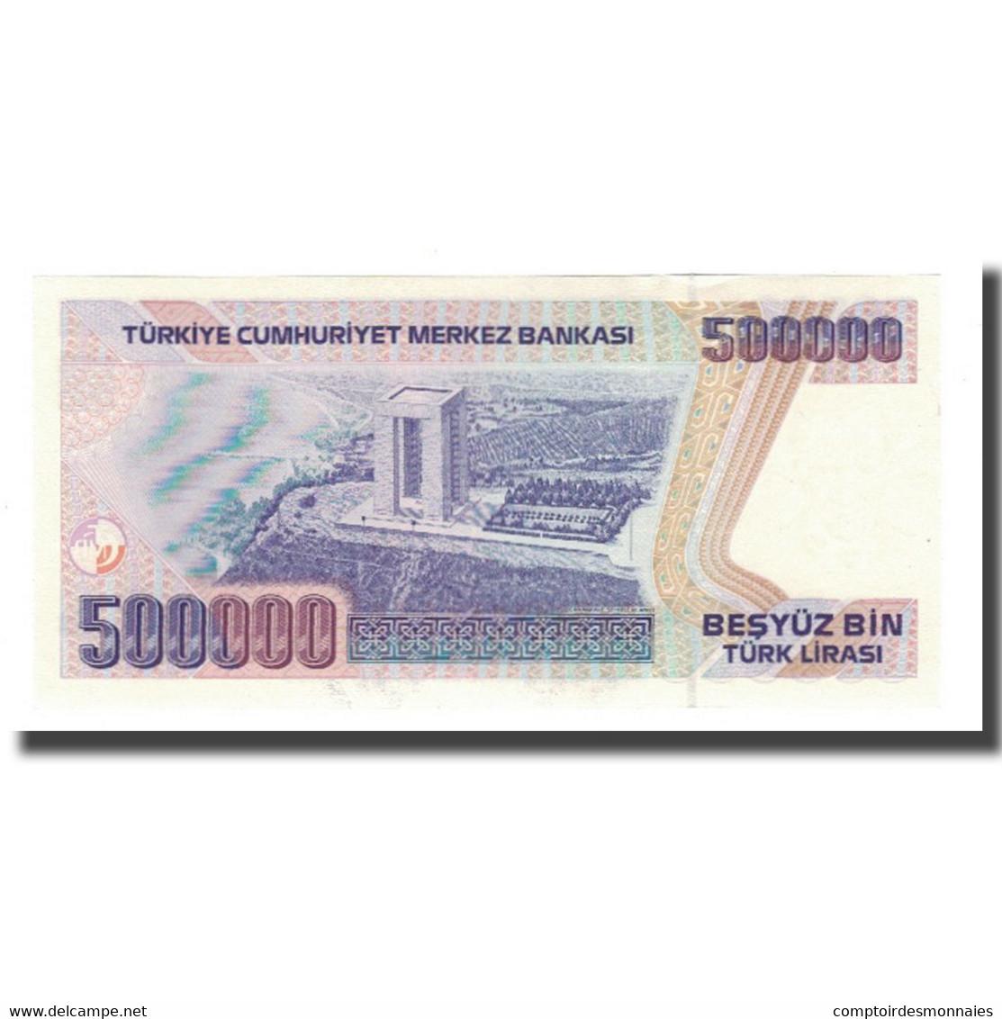 Billet, Turquie, 500,000 Lira, L.1970, 1970-01-14, KM:212, SPL - Turquie