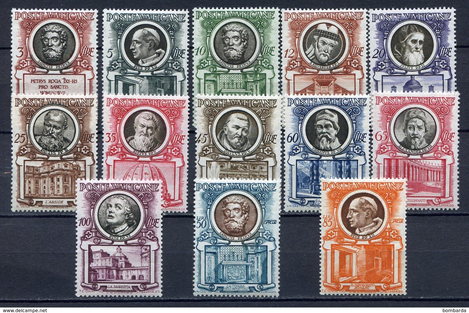 VATICANO 1953 PONTEFICI E BASILICHE+ESPRESSI  - MNH** - Vatican